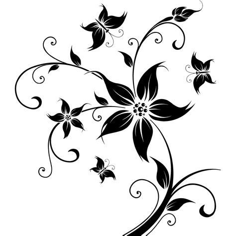 cuisine fushia stickers fleur papillon pas cher