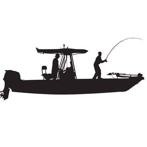 Boat Stickers by Skiff T Top Flats Console Fishing Boat Car Decal
