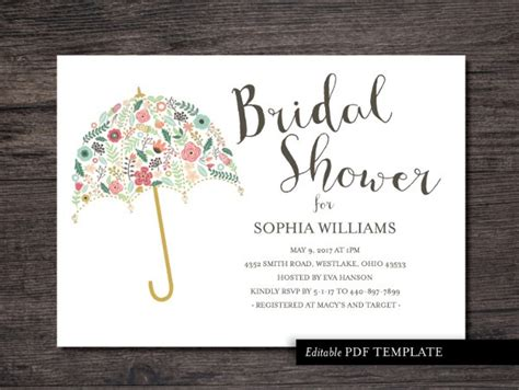 bridal shower invitations templates doliquid