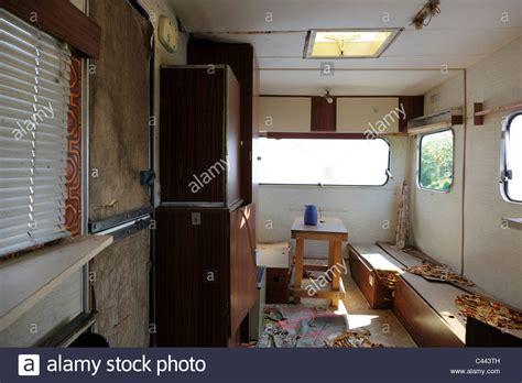 dilapidated caravan stock photo  alamy