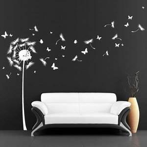 stickers muraux loft quotpissenlit avec de nombreux papillons With chambre bébé design avec stickers fleur de pissenlit
