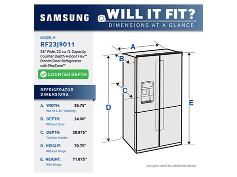 cabinet depth refrigerator dimensions 23 cu ft counter depth 4 door flex refrigerator with
