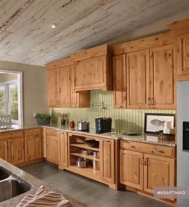 KraftMaid Rustic Alder Kitchen Cabinetry In Natural