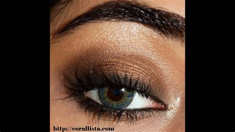 bronze smokey eye makeup tutorial corallista youtube