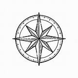 Compass Rose Map Usa Geography Coloring Study Place Engraving sketch template