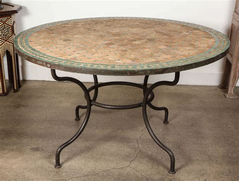 moroccan dining mosaic green tile table at 1stdibs