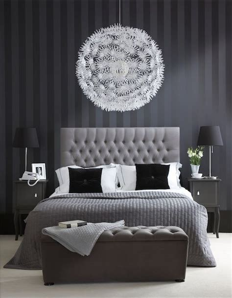 His Guest Bedroom  Black, White And Gray Make For An
