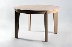 Table ronde de salle à manger avec rallonge Brin d'Ouest