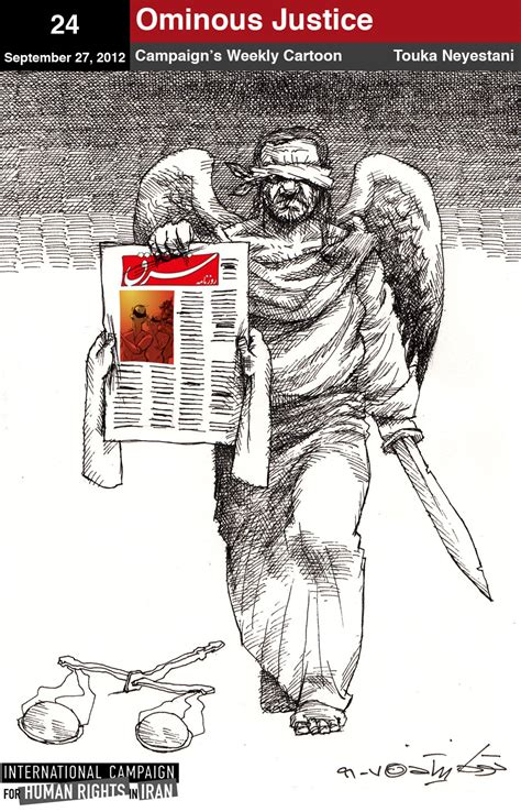 Cartoon 24 Ominous Justice For Shargh Newspaper
