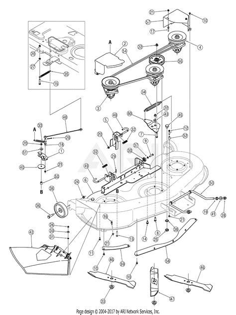 Deck Part Diagram by Mtd 13ab606h730 2005 Parts Diagram For Deck H