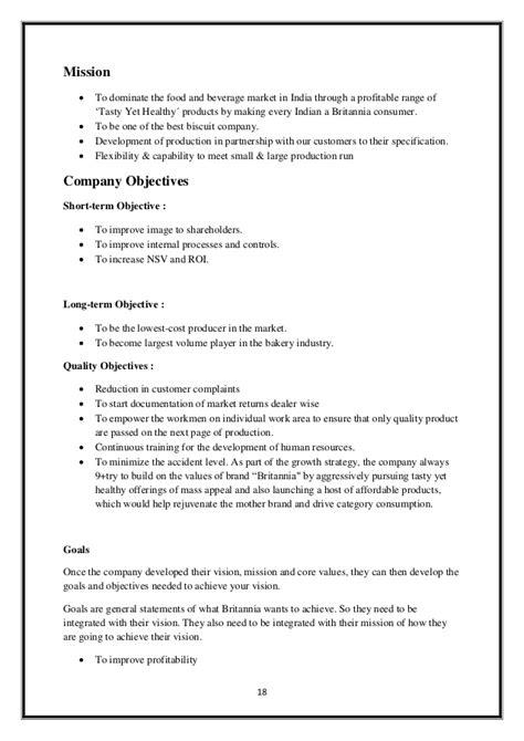 britannia project report