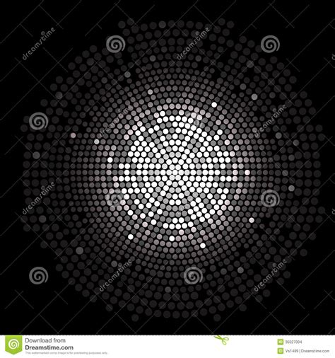 silver disco lights circle abstract background stock