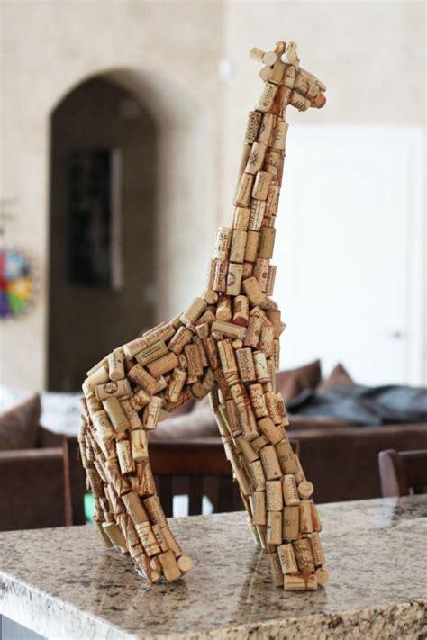 giraffe kostüm selber machen kreatives basteln kork figur giraffe diy do it yourself selber machen europaletten