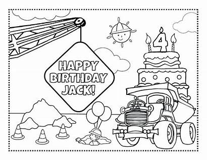 Coloring Pages Personalized Frecklebox Construction Printables Custom