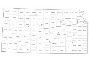 Kansas State Map with County Lines