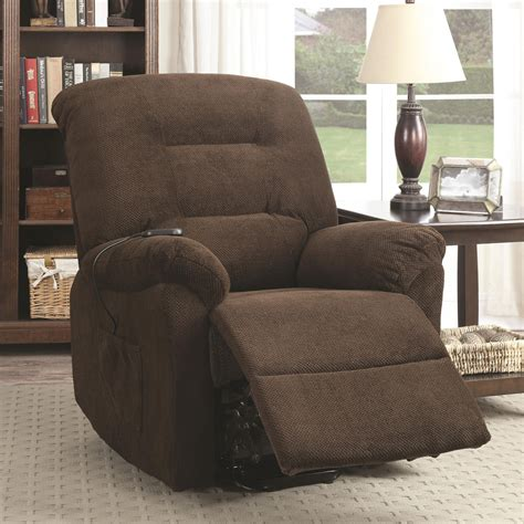 accent power lift recliner chair remote upholstery plush
