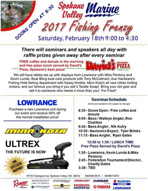 fishing spokane marine valley seminars frenzy seminar spokesman swap vendors tackle boating speakers several pizza six feb