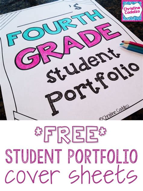 15184 portfolio design for elementary students free student portfolio cover sheets grade second