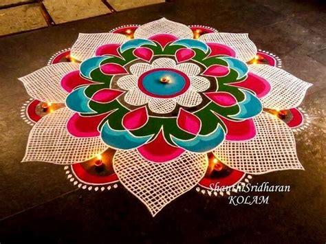 simple rangoli designs  diwali   wedandbeyond