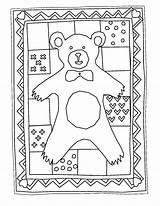 Quilt Coloring Quilts Adults Bear Birthday Sheets Teddy Yahoo Printable Thanksgiving Template Templates Paw sketch template