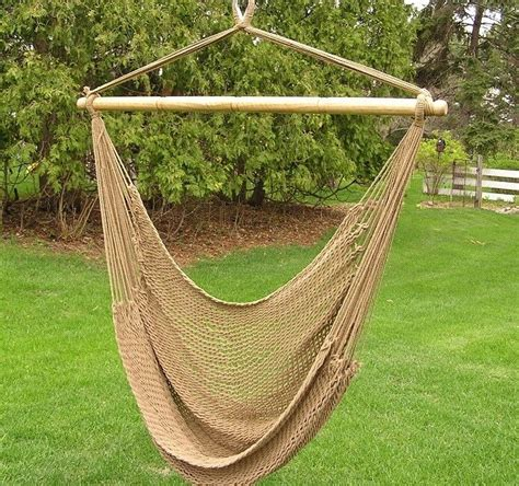 Cotton Hammocks by Deluxe Extr Large Brown Rope Cotton Hammock Swing Chair Ebay