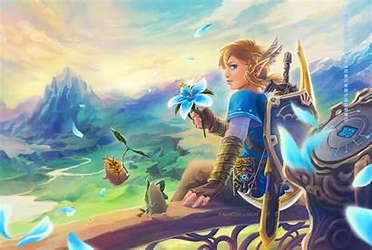 Zelda Breath Wild Legend Link Botw Wallpapers