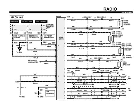 2001 Ford Mustang Wiring Diagram by 2001 Ford Mustang Radio Wiring Diagram Car Autos Gallery