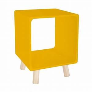 Table De Chevet Jaune : lot de 2 tables de chevet color break jaune moutarde veo shop ~ Melissatoandfro.com Idées de Décoration