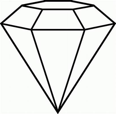 Diamond Coloring Shape Pages Outline Drawing Clipart