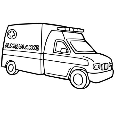 Kleurplaat Ziekenauto by Leuk Voor Ambulance