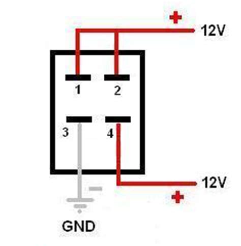 how to wire 4 pin led switch 4 pin led switch wiring
