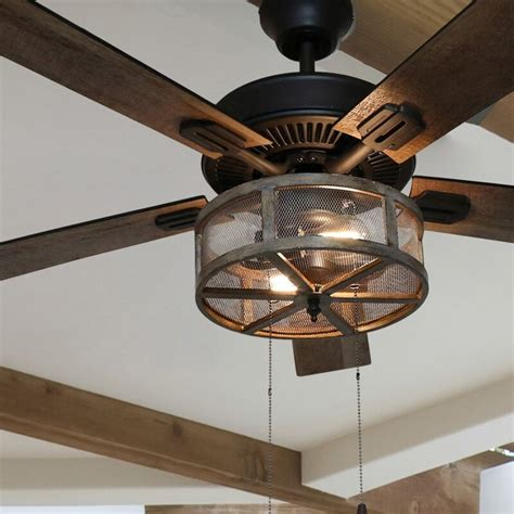 Large Farmhouse Style Ceiling Fan With Light Most Popular