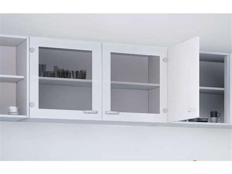 meuble cuisine 15 cm elément haut vitré cuisine l 98 2 cm casa coloris blanc vente de meuble haut conforama