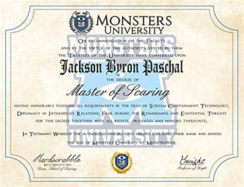 amazoncom personalized monsters  diploma monsters
