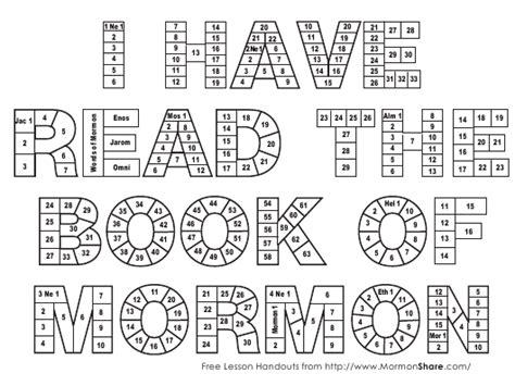 book  mormon reading chart template  printable