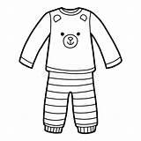 Coloring Pyjamas Pyjama Colorare Pajamas Clip Clipart Orso Pigiami Bear Flannel Pigiama Kleurend Boek Template Beer Libro Malbuch Bambini Illustrations sketch template