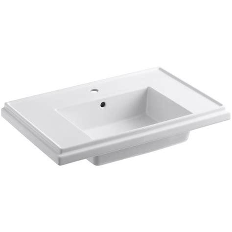 Kohler Tresham Pedestal Sink Specs by Kohler Tresham 30 In Fireclay Pedestal Sink Basin In