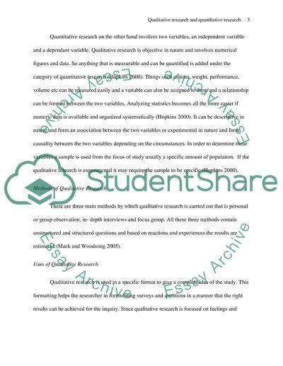 differences  qualitative research  quantitative research essay