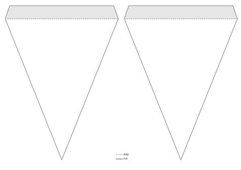 triangle banner template download clipart triangle pennant banner template