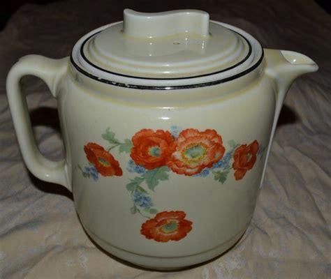 dinnerware tea orange poppy coffee pot orange poppy superior china teapot with s