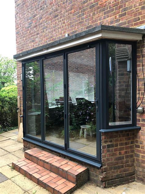 aluminium bi fold bay doors thames windows doors