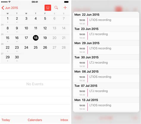 calendar iphone glimpse what s coming up next on your schedule with 3d