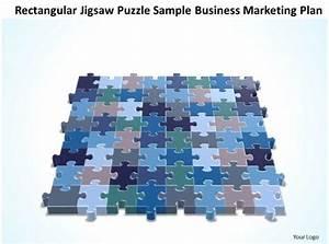 Business Powerpoint Templates Rectangular Jigsaw Puzzle