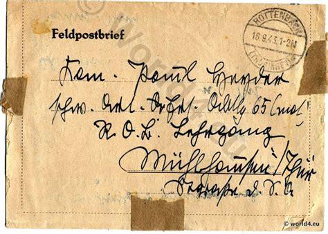 german field post letter  ww lost