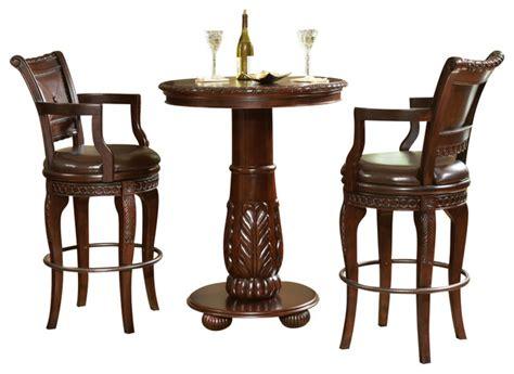 bistro table and chair set steve silver antoinette 3 piece pub table set