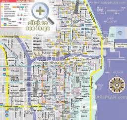 Chicago Tourist Attractions Map Printable