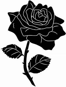 hoontoidly: Single Black Rose Clip Art Images