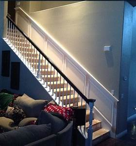Raised, Panel, Wainscoting, Along, The, Stairs