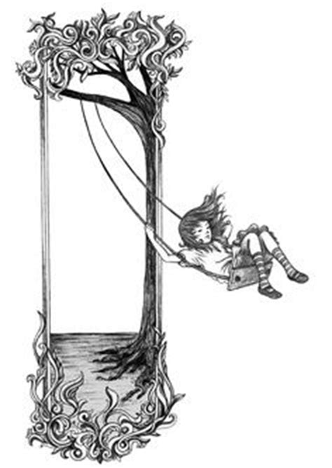 I want a swing silhouette tattoo of my kids, either a