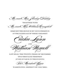 wedding invitation wording hosting say it with style wording wedding invitations